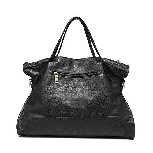 Sacchetto di spalla di affari delle borse della borsa del cuoio genuino del Nubuck Nero
