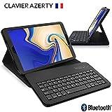 KARYLAX Étui de Protection Noir avec Clavier Français Azerty Connexion Bluetooth...
