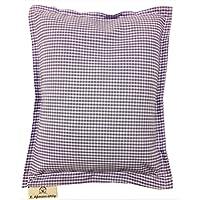 Lavendelkissen 25x20 cm original franz. Lavendel (ohne Zusatz von Duftstoffen) Motiv lila Karo hell