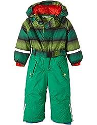 Killtec Ski Overall mit Kapuze Sarly Mini - Conjunto térmico de ropa interior para niña, color verde, talla 80