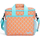 MIER 24-can Large Capacity Soft Cooler Tote Insulated Lunch Bag Outdoor Picnic Bag