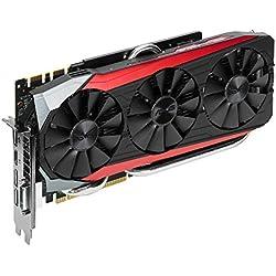 Asus GeForce GTX 980TI Strix-GTX980TI-DC3OC-6GD5 Scheda Grafica Gaming, 7200 MHz Velocità Memoria, Tecnologia Auto-Extreme
