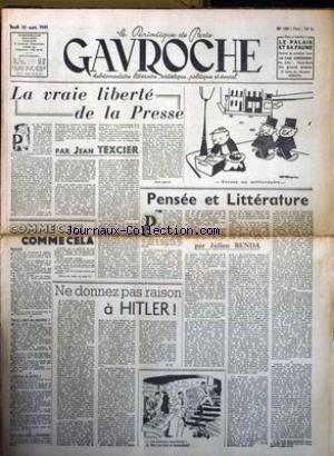 GAVROCHE [No 130] du 20/03/1947 - LA VRA...