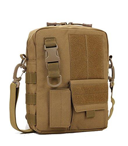Messenger Bag Borsa Da Viaggio Degli Uomini CHT Moda Borsa A Tracolla Casuale Tattico Può Contenere Ipad 25 * 20 * 7 Centimetri Colore Opzionale,Brown Brown