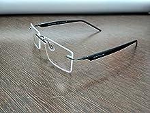 c591b186d56 Blue Rimless Rectangular Spectacle Eye Wear Frame For Men   Women
