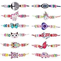 ZITFRI 12 PCS Bracelet Amitié Fille Bijoux Enfants - Petits Cadeaux Anniversaire Enfant Jouet Fille Bijoux 4 Ans - 11Ans Bracelet Enfant