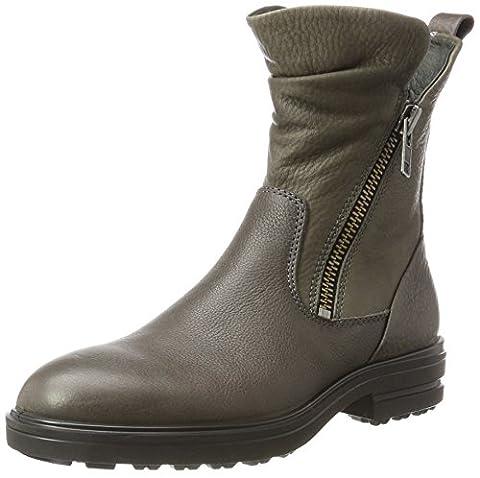 ECCO Women's Zoe Biker Boots, Grey (Steel/warm Grey), 39 M EU / 8-8.5 B(M) US