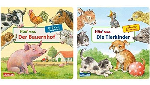 Carlsen Verlag GmbH hör veces: La Granja + hör veces: Niños de los animales (2x Cartón Bilderbuch en Juego)