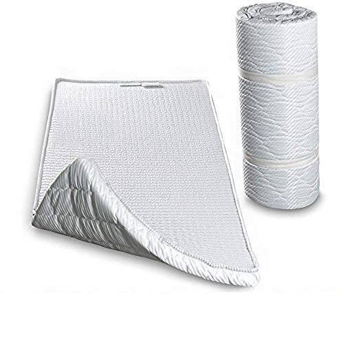 EvergreenWeb - Colchoneta en Espuma arrollado, 140x195 soporte ergonomico,Cómodo colchón, Esterilla - Twist Bed