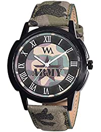 Watch Me Army Green Analog Watch For Men And Boys