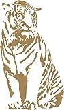 GRAZDesign 640074_30_081 Wandtattoo Tiger sitzend | Aufkleber als Dekorationsartikel | Sticker in 47 Farben (51x30cm//081 hellbraun)