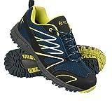 Mountain Warehouse Enhance Wasserfeste Laufschuhe für Herren - Atmungsaktive Freizeitschuhe, Weiche Wanderschuhe, strapazierfähige Herrenschuhe - Schuhe für Den Alltag Petrolblau 45