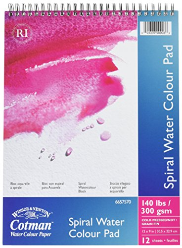 Winsor & Newton Cotman Water Colour Paint Pad Spiral (12x9inch) [importato da UK]