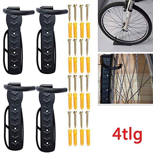 Allright 4 STK Fahrradwandhalter Haken Fahrradhaken Wandhalter Fahrradaufhängung 30kg