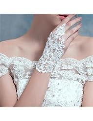DELLT- Gants de mariée en dentelle de perles