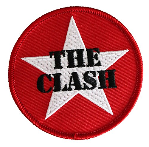 """THE CLASH Star Logo, Officially Licensed Original Artwork, High Quality Iron-On / Sew-On, 3"""" x 3"""" Embroidered PATCH toppa"""