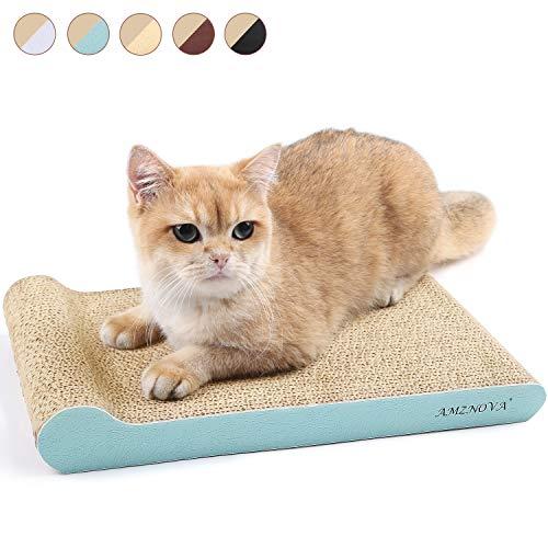 AMZNOVA Incline - Rascador de Gato de cartón, Duradero, Almohadilla para rascar Gatos, sofá para Gatos con Parte Inferior, Catnip Incluido