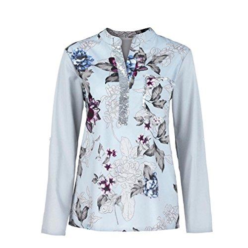 Damen Bluse,Felicove Schulterfrei Elegant Langarmshirts Mode Basic Herbsthemd Übergröße Blusentop...