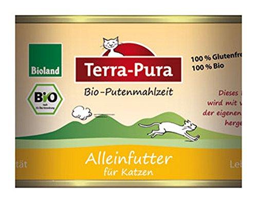 6er-SET Bio-Putenmahlzeit Katzenfutter 200g Terra-Pura