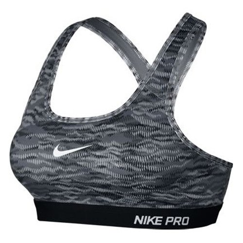 Reggiseno sportivo Nike Pro Classic Pad Rflct Bra grigio/nero