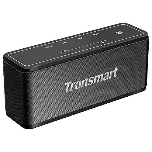 Tronsmart Mega Bluetooth Lautsprecher mit 40W Stereo Sound und Dual-Treiber Boom Bass, 15 Stunde Akku, Eingebauten Mikrofon, TWS/NFC Unterstützt, Bluetooth Speaker für Mobiltelefon (Schwarz)