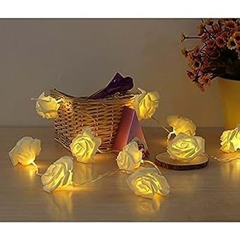 """Lerway 86.6"""" 2.2M Rosa Fata Fiore Flessibile 20 LED luci della stringa per Giardini, Prato, Patio, alberi di Natale, matrimoni, feste, bar, club, piscina coperta e la decorazione esterna (bianco caldo)"""
