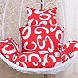 SXFYHXY Appeso Cuscino per sedie a Dondolo per Esterni Cuscino Singolo per Amaca da Giardino Patio Cortile Confortevole Relax -Senza Supporto,Red,56x51cm
