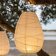 Farolillos de papel a pilas con LED de luz blanca cálida de Lights4fun ALCAPOWER