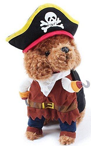 Haustier Junge Mädchen Hund mit unechte Arme Halloween Karneval Hund Turnier Kostüm Kleid Kostüm Outfit S-XL - Piraten, (Outfits Jungen Piraten Für)