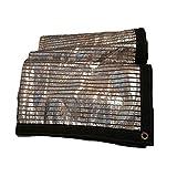 WJGJ Tarpaulin Shading Net, Teloni, Tela Cerata Shading Net Riflettente di Alluminio dello Schermo di Sun Il 75% con Occhielli for Esterni Patio Roof Garden Davanzale della Finestra