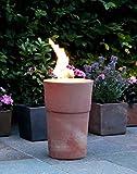 Flammentopf Siena Rosso, Bio-Ethanol Feuerstelle aus Impruneta Terrakotta