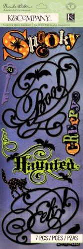 Unbekannt K&Company Spukbrett Brenda Walton Spruch Verzierungen (Halloween Gruselige Für 7 Wörter)