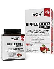 WOW Raw Apple Cider Vinegar 500mg - 60 Vegetarian Capsules