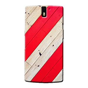 RED STRIPES BACK COVER FOR ONE PLUS ONE