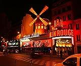 Sticker Skin o Cartel Paris Moulin Rouge-Póster cv_00152, papel, Affiche poster, 21 x 29,7 cm (A4)