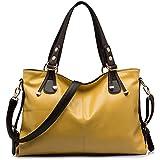 Handbag BlueVega Women-Bolso multiusos-Bolso bandolera de piel para retro Bolso para mujer