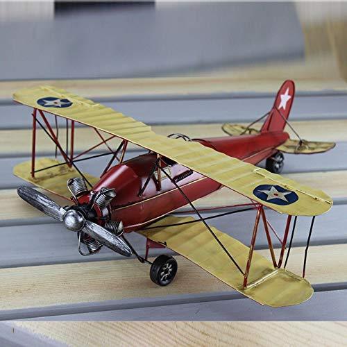 eth grande modello di aeromobile modello biplano d'epoca fatta di vecchi fatti a mano velivoli in metallo modello di aeroplano giocattolo ragazzi doni creativi di inviare regali di arredamento 45x49x6