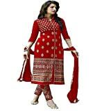Navratri Special Red Color Dress Materia...