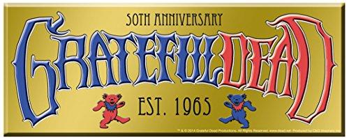GRATEFUL DEAD 50th Anniversary Logo, Officially Licensed Original GDP Inc., Artwork, 2.75