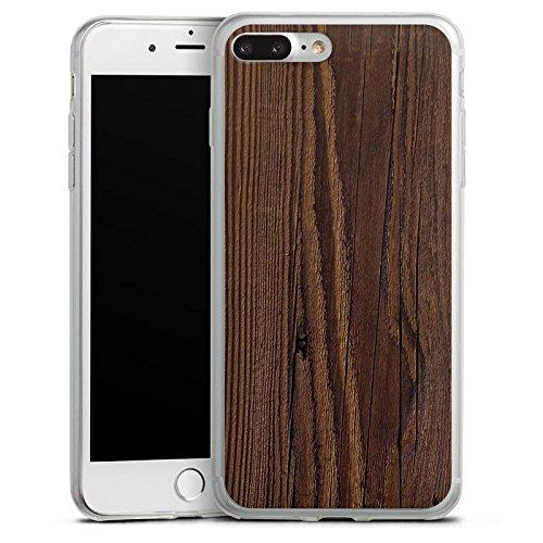 Apple iPhone 8 Slim Case Silikon Hülle Schutzhülle Holz Look Maserung Silikon Slim Case transparent