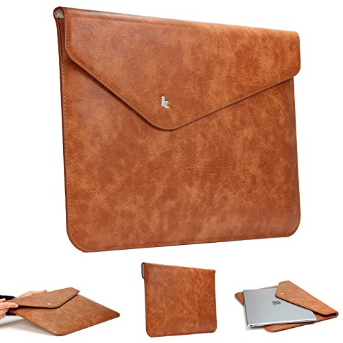 Original Urcover® Jison Fashion Designer Mac-Book Laptop 13 Zoll Tasche Hülle Mac Book Tasche Sleeve Notebooktasche Lenovo ThinkPad, HP Elitebook, Fujitsu Lifebook, Sony Vaio, HP Probook, Microsoft Surface Book Laptophülle Hülle 13 Zoll Air Braun