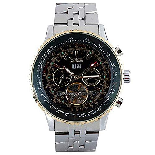 en Armbanduhr, Edelstahl Automatik Mechanische Uhr für Männer Frauen, Business Armbanduhr ()