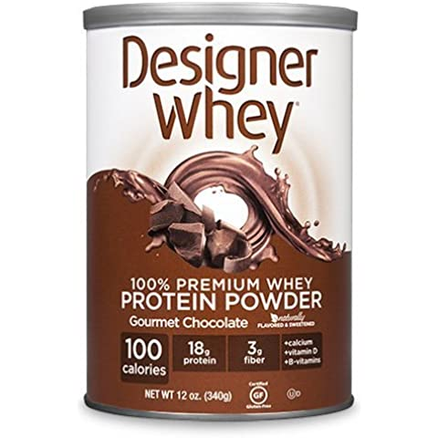 Designer Whey Protein Powder Chocolate - 12.7 oz by Designer (12,7 Ounce Chocolate)