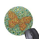 Art Dot Paintings Butterfly-Muster gedruckt Runde Mauspad