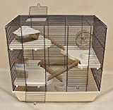Nagerkäfig,Hamsterkäfig,Käfig, Teddy Gigant II Vollausstattung beige