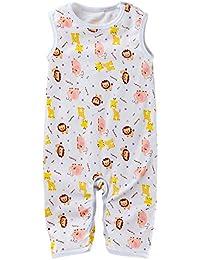 4973ff8a4335 Bambino Pagliaccetto Ragazzi Ragazze Tutine Stampato Pigiama in Cotone  Senza Maniche Outfits 0-12 Mesi