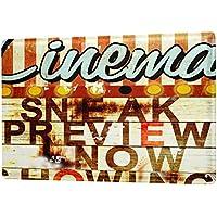 A Allen Retro US Deko Popkorn Kino Nostalgie Werbung 20x30 cm Blechschild M