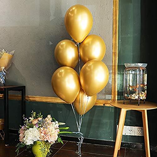 Erosion Goldballons, 12 '' Goldmetallic-Latex-Partyballons für Partydekorationen, Weihnachtsdekorationen, Geburtstage, Brautduschen, Valentinstag, Abschlussfeier 50-TLG