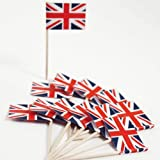 from drinkstuff Union Jack Flag Cocktail Sticks - 50 Pack - Ideal For Parties BBqs Queens Jubilee by drinkstuff Model VBPUKAIHMAZA3820