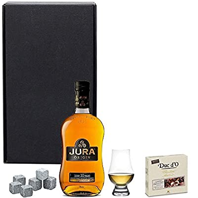 Isle of Jura Whisky Perfect Serve Gift Set in Matt Black Gift Box with Hand Crafted Gifts2Drink Tag